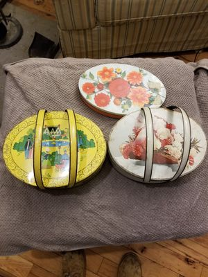 3 Vintage sewing tins for Sale in Mahopac, NY