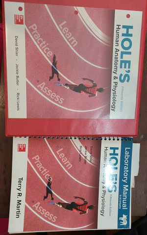 15th Edition Holes Anatomy and Physiology Manual and Lab books for Sale in Evansville, IN