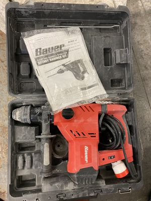 Bauer Rotary Hammer Kit and case for Sale in Atlanta, GA