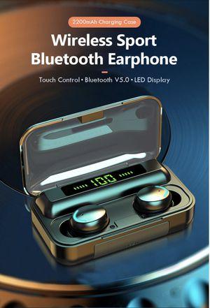 TWS F9 v5.0 Bluetooth Earphones Wireless Headphones With Microphone Sports Waterproof for Sale in Danbury, CT