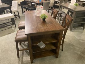 Your Choice Alert 🚨 5 Piece Dining Set Brown or Grey your Choice. Price is $399.00 table and 4 Bar Stools or $479.00 table and 4 Chairs. for Sale in Mesa, AZ