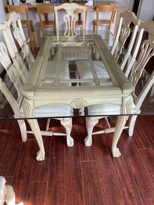 7 pieces of antique dining set for Sale in Clovis, CA