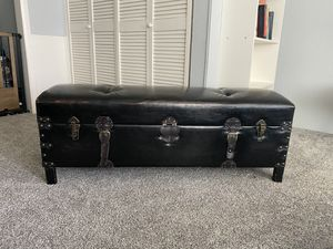 Brown Leather Ottoman for Sale in Portland, OR