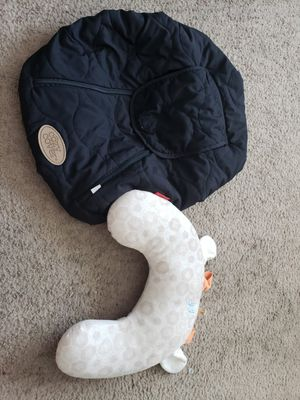 Car seat cover & baby pillow for Sale in Avondale, AZ