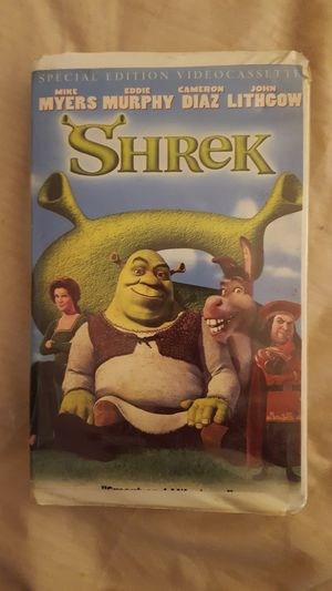 SHREK 2002 VHS MOVIE for Sale in Gurnee, IL