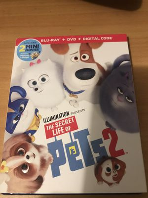 THE SECRET LIFE OF PETS 2 BLU-RAY DVD DIGITAL MOVIE for Sale in Long Beach, CA