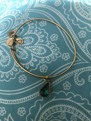Alex and Ani Crystal goldtoned Charm May birthstone (emerald color) Bangle for Sale in Westerville, OH