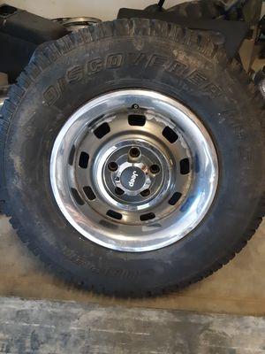 Jeep wrangler wheels...cooper tires for Sale in Black Hawk, CO