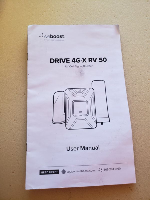 weBoost Drive 4G-X RV Cell Phone Signal Booster for Your RV or Motorhome