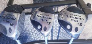 Big Bertha Steelhead Plus Driver 10° , 5 & 7 Golf Clubs for Sale in East Providence, RI