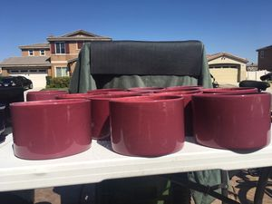 "Ceramic Planter Pots, Succulent Cactus Plant Cylindrical Containers, 6 1/2""W X 4 1/2""H $4. Ea for Sale in Palmdale, CA"