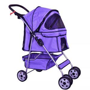 4 Wheels Pet Stroller Cat Dog Cage Stroller Travel Folding Carrier 5 Color for Sale in Atlanta, GA