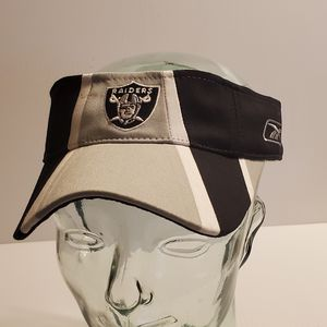 Oakland Raiders NFL Reebok Sun Visor hat Black/Gray. New with tags. Size adjustable for Sale in San Jose, CA