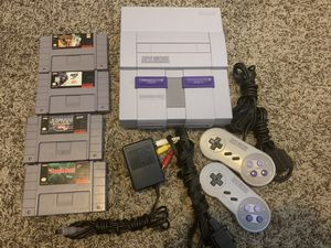 Super Nintendo SNES whit Games for Sale in Vancouver, WA