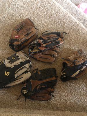 Baseball gloves (left hand) for Sale in Novi, MI