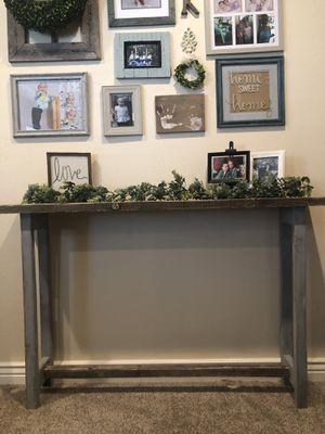 Charcoal & Light grey console for Sale in Salt Lake City, UT