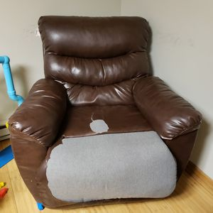 Leather recliner for Sale in Danville, PA