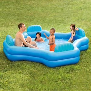 Family Sized 105in x 105in x 26in Inflatable Pool for Sale in Boston, MA