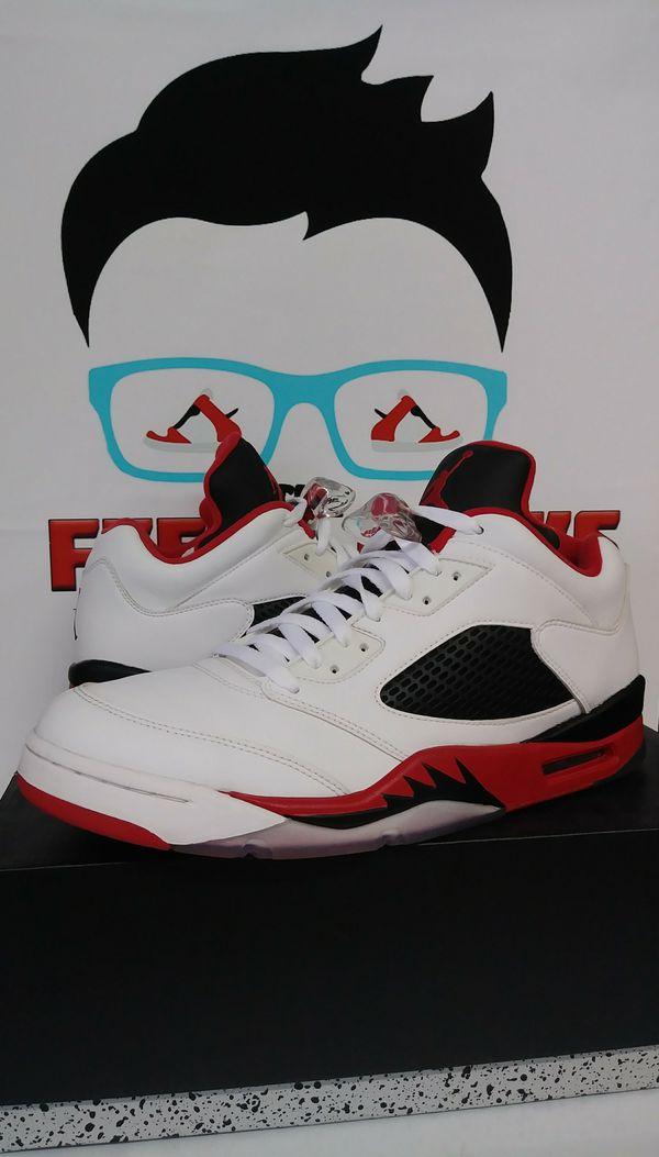 Air Jordan 5 Retro Fire Red Low Mens Shoes Size 12