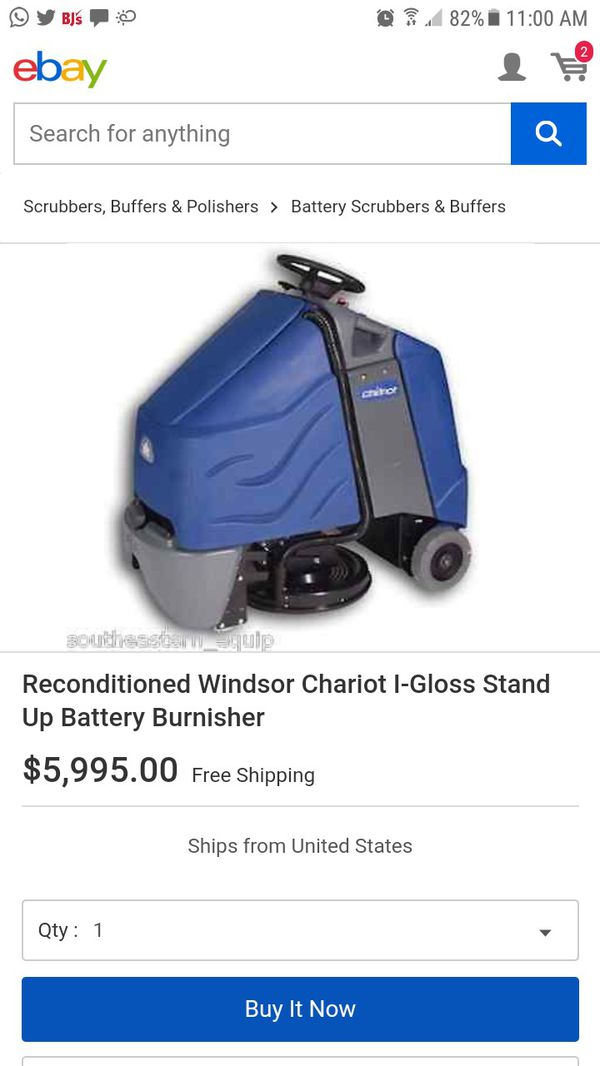 Windsor Kärcher Chariot igloss Commercial stand-up ride-on Floor cleaner scrubber burnisher, check all pics