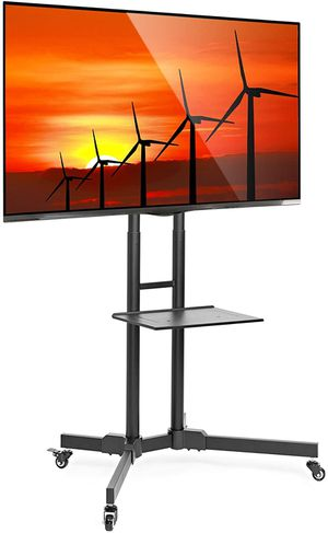 Factory Rolling TV Stand, Mobile TV Cart for 32-65 inch Screen for Sale in West Chicago, IL