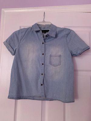 Denim Button Front Shirt for Sale in Hialeah, FL