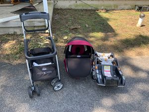 Chicco KeyFit 30 Zip Infant Car Seat, 2x Bases, Caddy Stroller for Sale in Lebanon, PA