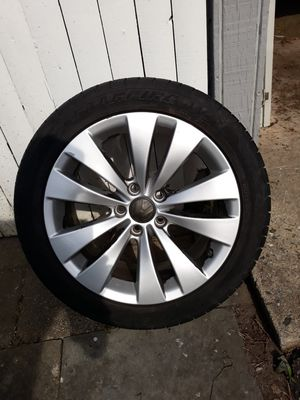 Four 17' tires with VW stock rims for Sale in Bridgeport, CT