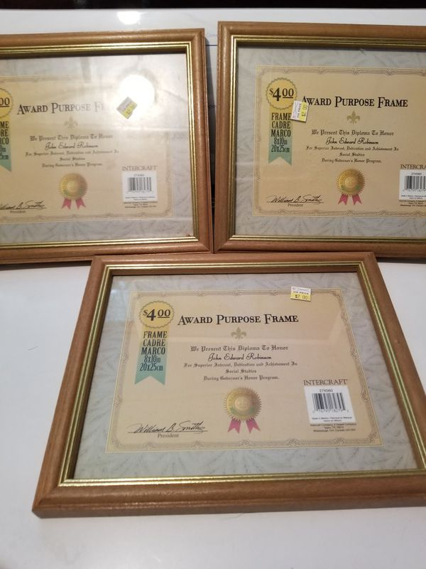 Award/Certificate Frames
