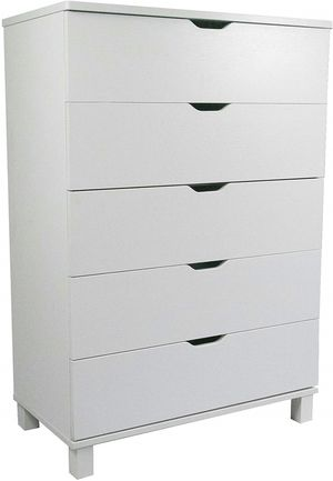 5 Drawer Chest, White, SKU Y1106 for Sale in Garden Grove, CA