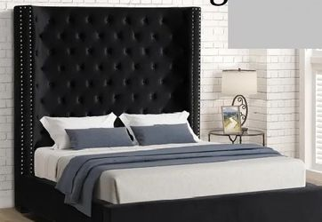 Rebekah Queen size platform bed, available in 3 sizes and 3 colors $829.00 Super Sale! In Stock! Free Delivery 🚚 for Sale in Ontario,  CA
