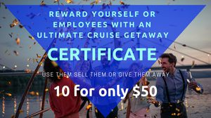 Ultimate Cruise Getaway Certificates - 10 for $50 for Sale in Wichita, KS