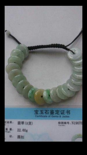 Certified genuine multicolors jade jadeist beaf bracelet adjustable for Sale in Richmond, CA