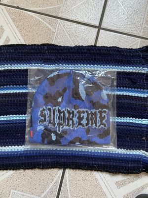 Supreme FW20 Paris Camo Beanie - Blue for Sale in Stockton, CA