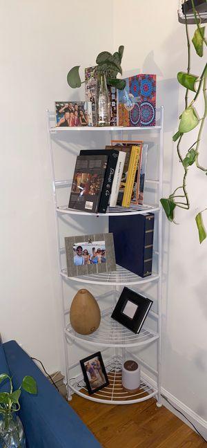 White metal corner shelf for Sale in Hoboken, NJ