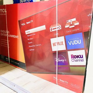 """Brand New TCL 55"""" 4K UHD HDR LED Roku Smart TV. for Sale in Pomona, CA"""