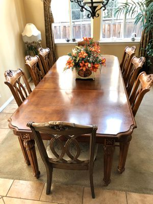 Dining Table Set 8 chairs Solid Wood for Sale in Rancho Cucamonga, CA