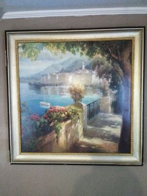 Framed canvas oil painting for Sale in Wichita, KS