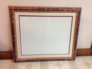 "High Quality 26 1/2"" x 22 1/2"" Wooden Picture Frame with Matte for 20"" x 16"" Photo for Sale in Ballwin, MO"