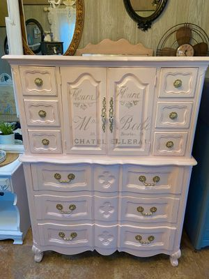 Pink French Armoir Dresser for Sale in Milwaukie, OR