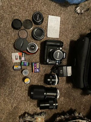 Finepix Nikon camera and lenses for Sale in Fort Denaud, FL