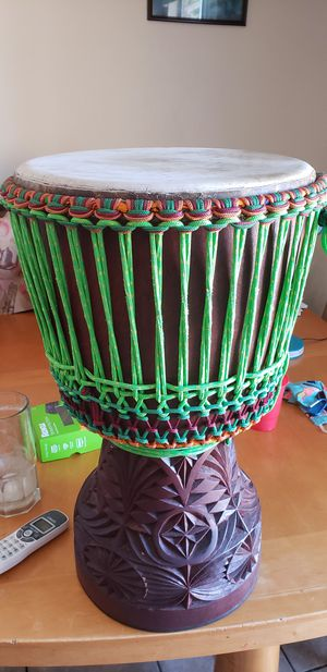 African musical drum with carring bag for Sale in Oxnard, CA