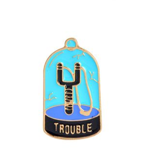 New hipster pin trendy buttons trouble maker goth for Sale in Cypress, CA