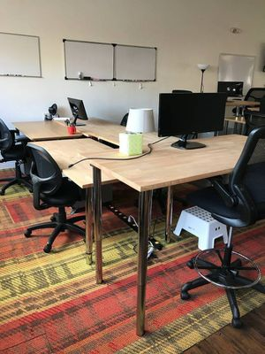 Ikea tables solid Wood gerton top x5 $145each for Sale in San Jose, CA