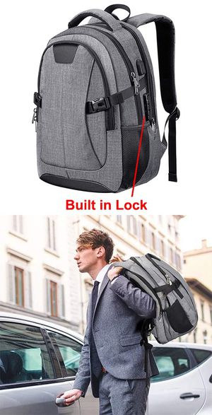 """New $20 Anti-theft Laptop Backpack w/ USB connection Fit 15.6"""" Notebook School Business Travel, Waterproof for Sale in Whittier, CA"""