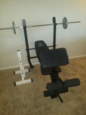 marcy weight bench with weight stand for Sale in Deerfield Beach, FL