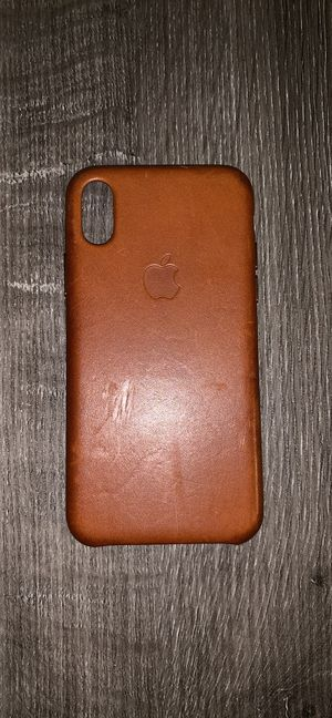 iPhone X/XS Apple Leather Case for Sale in Evansville, IN