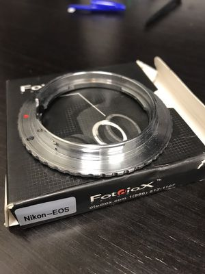 Fotodiox nikon to Canon EOS EF lens for Sale in Cedar Park, TX