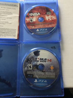 NBA 2k15 and Mlb PS4 games for Sale in Glendale, AZ