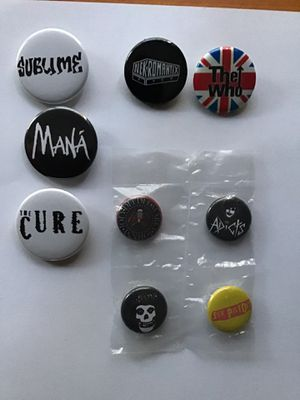 Band and music pins/buttons for Sale in La Puente, CA